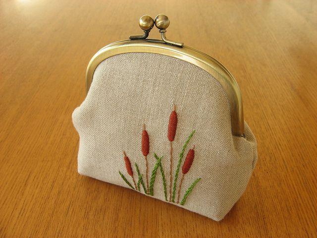 cattail snap frame purse by y * handmade, via Flickr