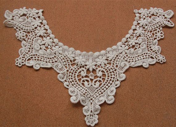 Hey, I found this really awesome Etsy listing at https://www.etsy.com/listing/246418281/crochet-lace-collar-vintage-lace-collar