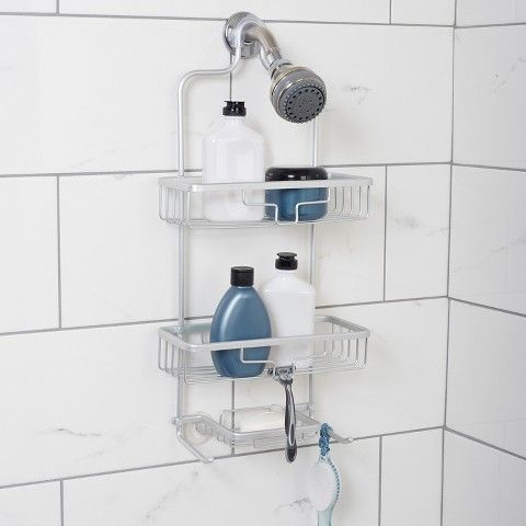 Zenna Home NeverRust Aluminum Shower Caddy - Satin (Large)