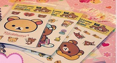 Stickers+söta+figurer