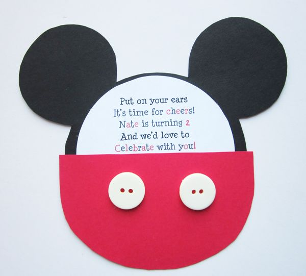 Mickey´s party card invitation.