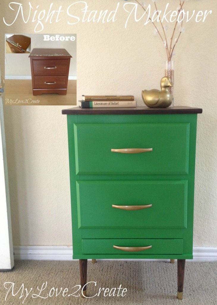 Amazing Night Stand Makeover - Gorgeous :)
