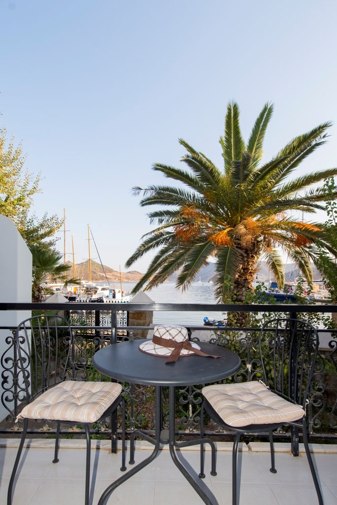A balcony worth envying. | Silver Beach hotel in #Patmos.  #grikos #grikosbay