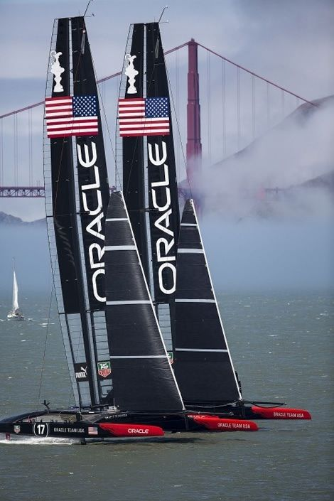 USA in 2013 America's Cup!!  Historical win in San Francisco coming from an 8-1 deficit to pull off the victory!!