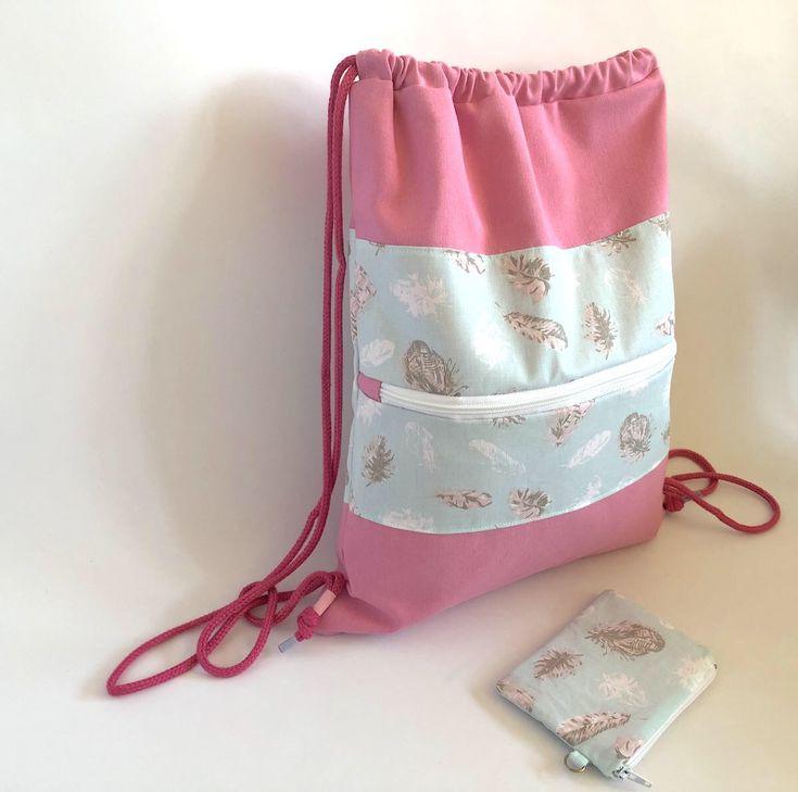 Mochila, mochila saco, mochila joven, mochila rosa, rosa, regalo, regalo chica, plumas, tela plumas, bolsa gimnasio, monedero, cordón de Mizifu en Etsy https://www.etsy.com/es/listing/580476969/mochila-mochila-saco-mochila-joven