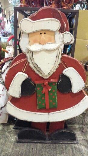 Very tall Santa wood craft for Christmas