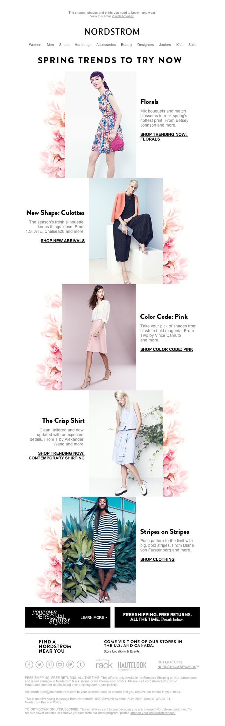 Nordstrom - Spring Trends to Try Now
