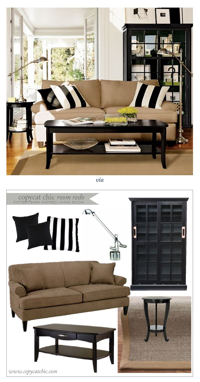 COPY CAT CHIC ROOM REDO I POTTERY BARN INSPIRED LIVING ROOM $1909 Part 59