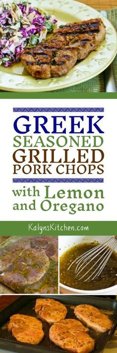 Greek-Seasoned Grilled Pork Chops with Lemon and Oregano are low-carb ...