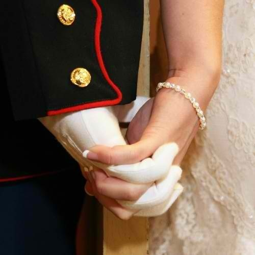 This is so adorable... Marines wedding photo.