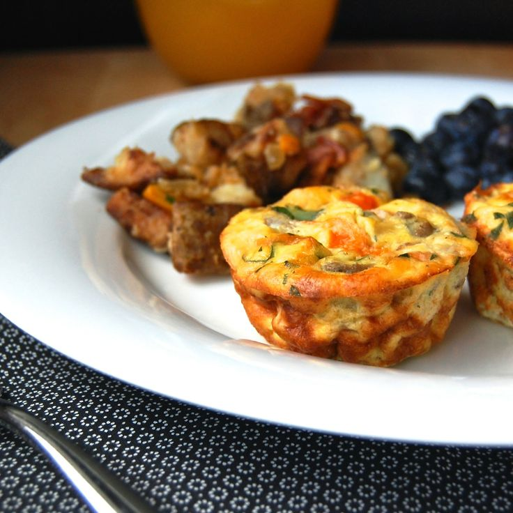 Cheesy Mini Sausage Frittatas With Mushrooms Peppers And Chives