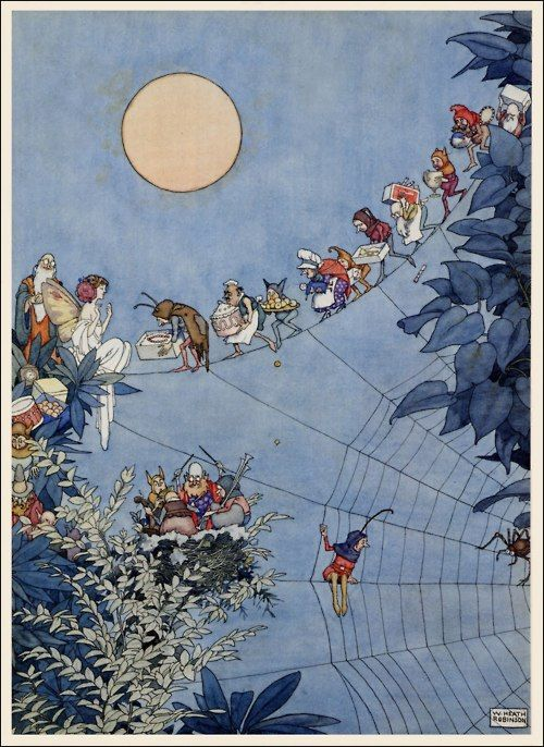 1925 William Heath Robinson (English 1872-1944) ~ The Fairy's Birthday, from December 1925 Holly Leaves Magazine via The Pictorial Arts
