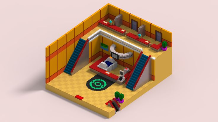 I recreated the Pokemon Center from HG/SS in isometric form http://ift.tt/2gsUOkH
