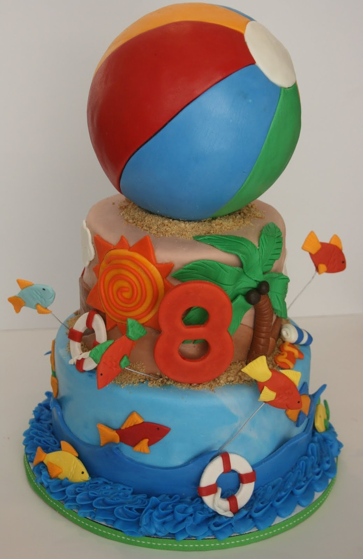 Cake Decorations For Pool Party : 226 best images about Amazing Cakes & Foods on Pinterest ...