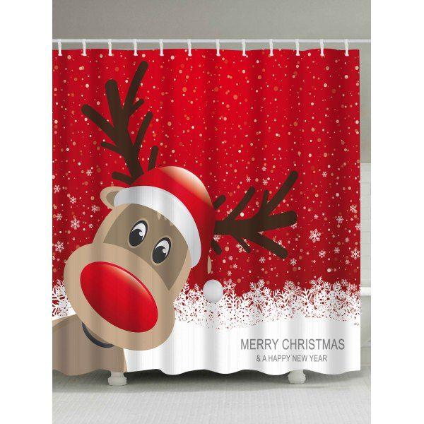 Rosewholesale Christmas Shower Curtains Christmas Bathroom