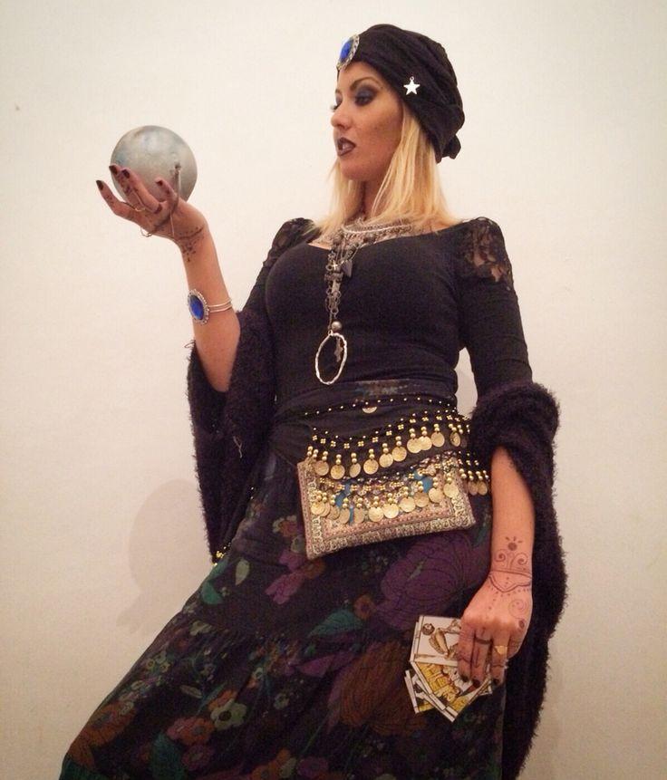 Disfraz gipsy, gitana costume, Halloween, circus, adivina