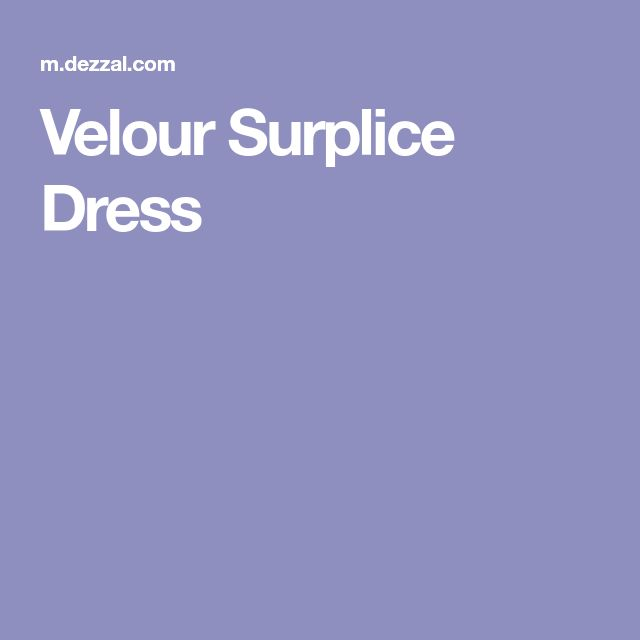 Velour Surplice Dress