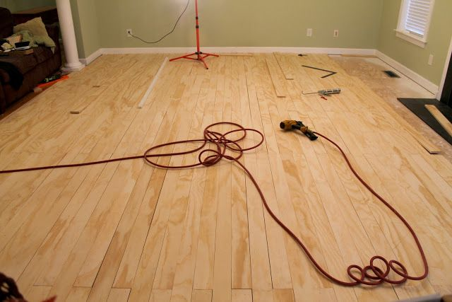 PLYWOOD FLOORS- no gap version, This is the tutorial we're using for our Oak Plywood Floors!!! :)