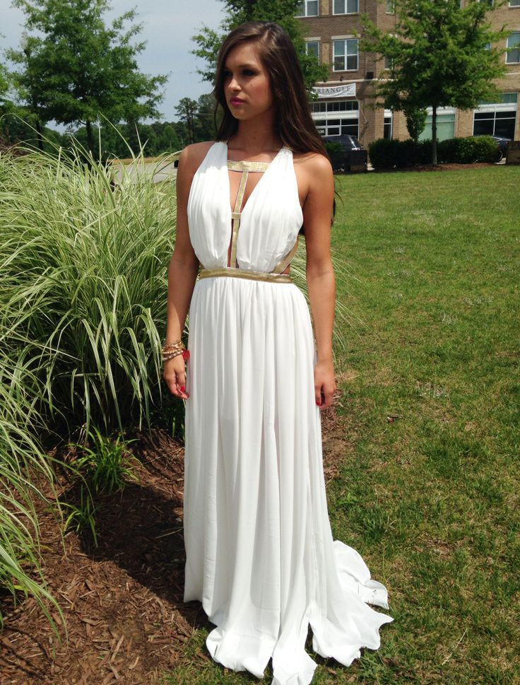 White Grecian Maxi Dress Swoonboutique Swoon Swag