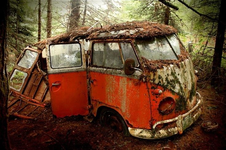Old hippie party bus rusting away abandoned cars for 1958 vw bus 23 window