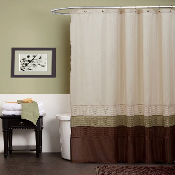 17 Best Ideas About Brown Shower Curtains On Pinterest