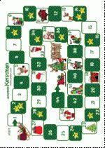 Ganzenbord Kerst - Op piekie.com. Hier vind je nog meer gezelschapsspellen om te downloaden