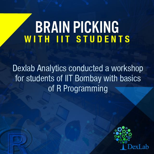 #DexLab is happy to help students of IIT #Bombay with basics of #RProgramming