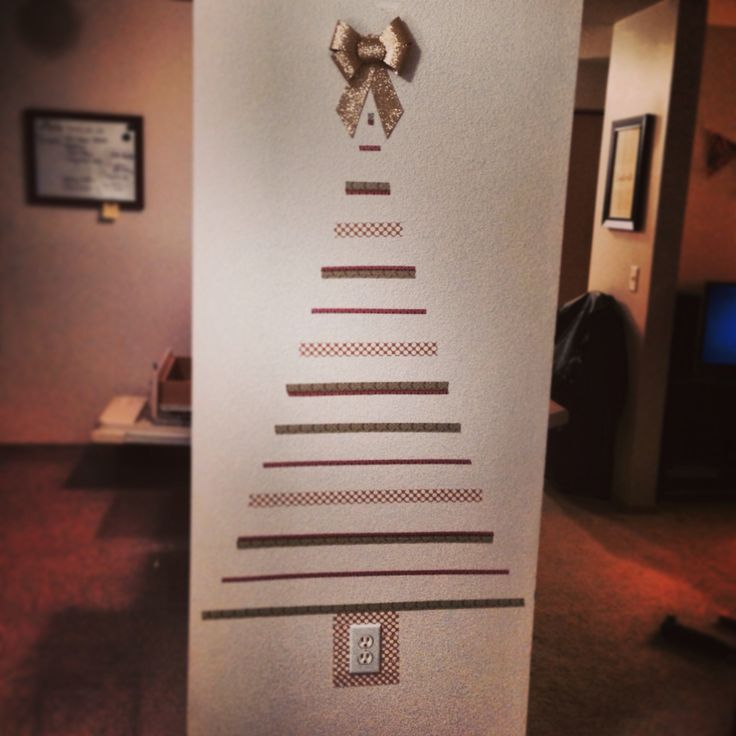 Washi tape Christmas tree.