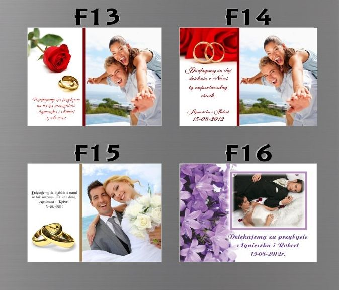 Podziękowania dla gości : Podziękowania fotomagnes - Fabryka Ślubu