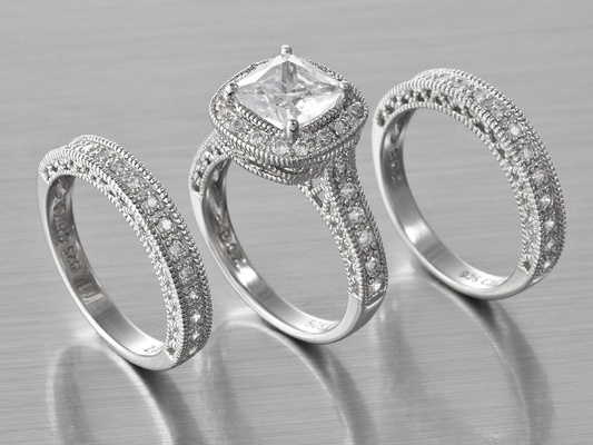 Bella Luce Platineve Wedding Ring With Bands From Jewelry Television I Love In 2018 Pinterest Rings And Diamond