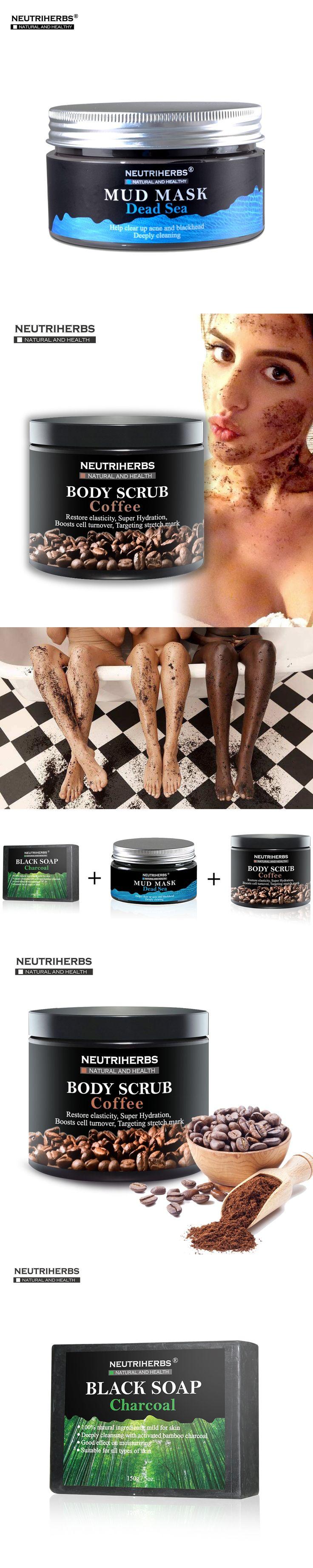 Face Black Blackhead Remover Mask Coffee Body Cream Scrub Reducing Oil White Essential Oil Soap Cellulite Treatment  3 in 1 Set