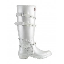 Hunter // Hunter Festival 2011 Tall Metallic Wellington Boots - White - £155.00