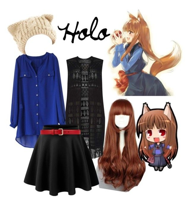Holo; Spice and Wolf by fem-satan on Polyvore featuring polyvore, fashion, style, Dorothy Perkins, Gucci and clothing