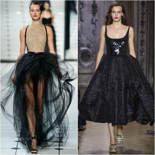 Черная юбка-пачка фото