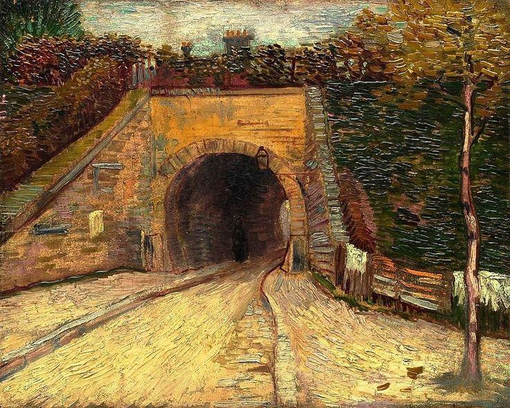 Vincent Van Gogh - Roadway with Underpass (Le viaduc), 1887.