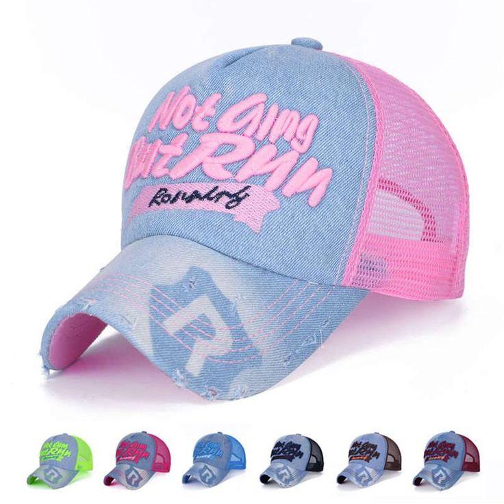 High Quality Baseball Cap Women Summer Baseball Caps with Mesh Back 2016 Bone Hip Hop Sport Hat Adjustable Size 55-60cm