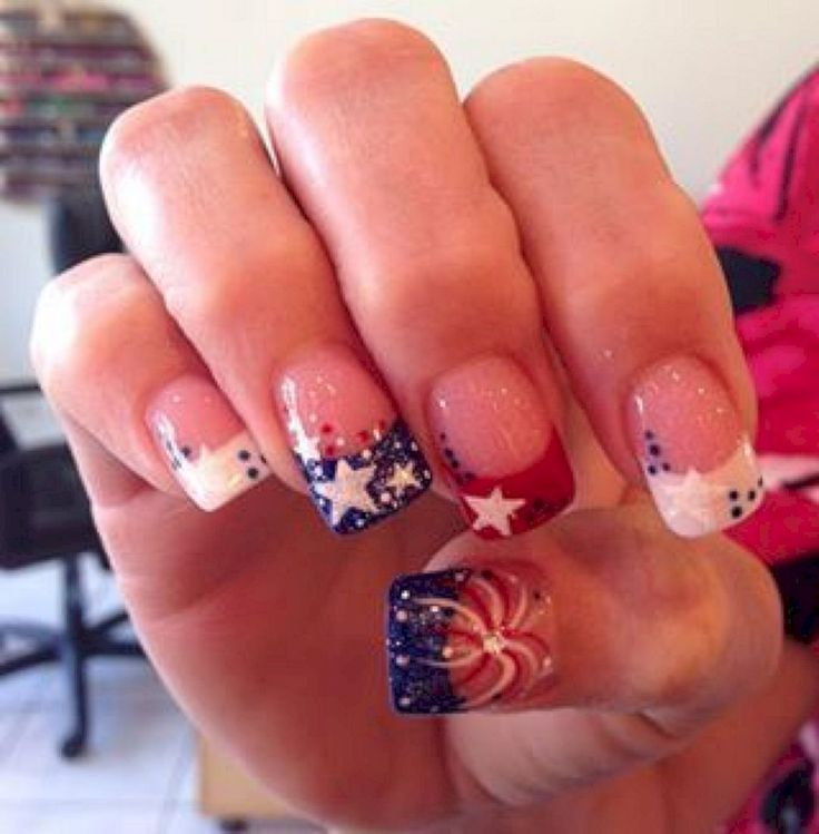 01 fantastic bright summer and fourth of july nail design ideas - Nails Design Ideas