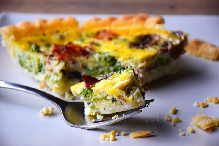 There are so many good things about a quiche.  You can eat them at any meal of the day, you can put anything in it, and they are so good for you!