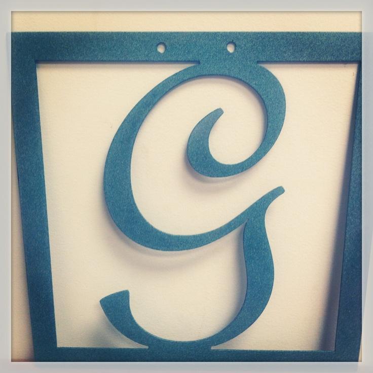 Letter G in square- Metal Art by L& N Welding