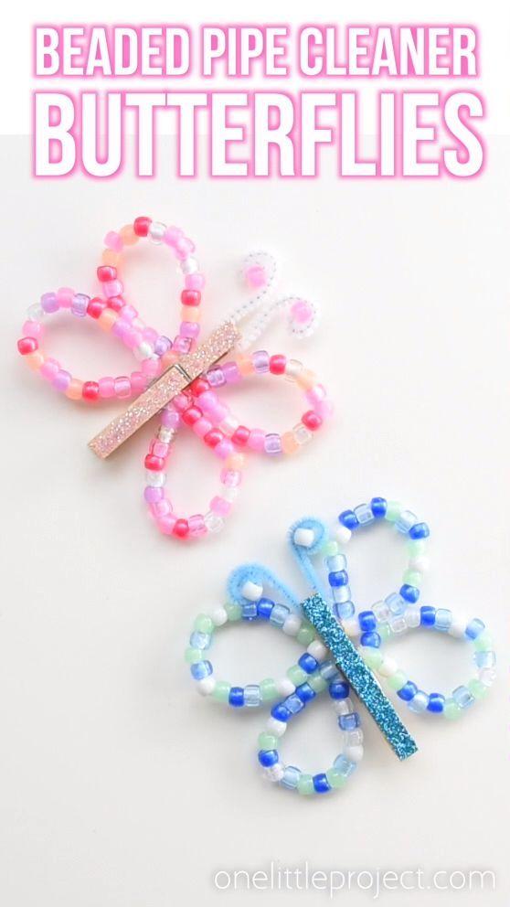 Diese Perlenpfeifenreiniger sind SO PRETTY und sie sind wirklich einfach