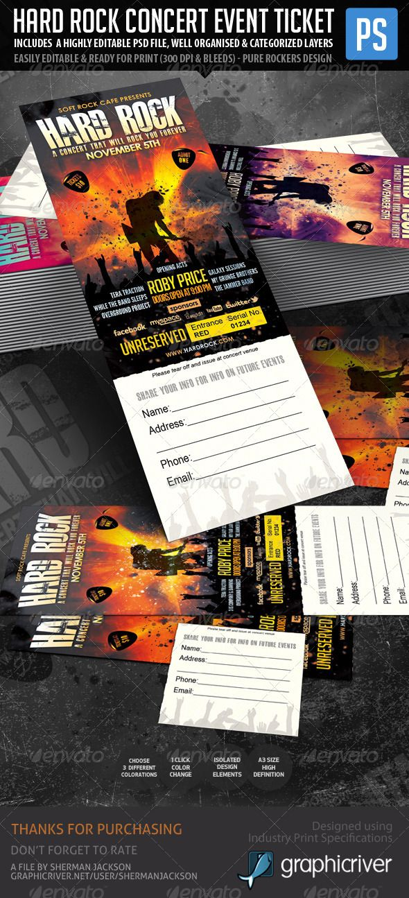 28 best Design Music Ticket images on Pinterest Ticket design - How To Design A Ticket For An Event