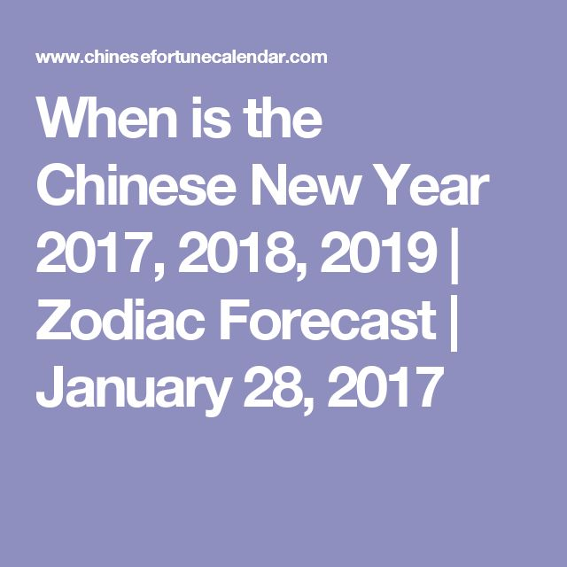 When is the Chinese New Year 2017, 2018, 2019 | Zodiac Forecast | January 28, 2017