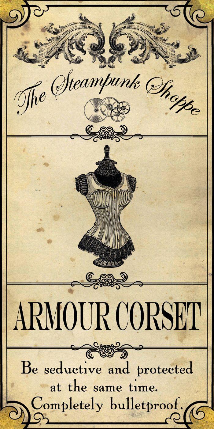 Steampunk Apothecary Shoppe - Corset Art Print by VectoriaDesigns   Society6
