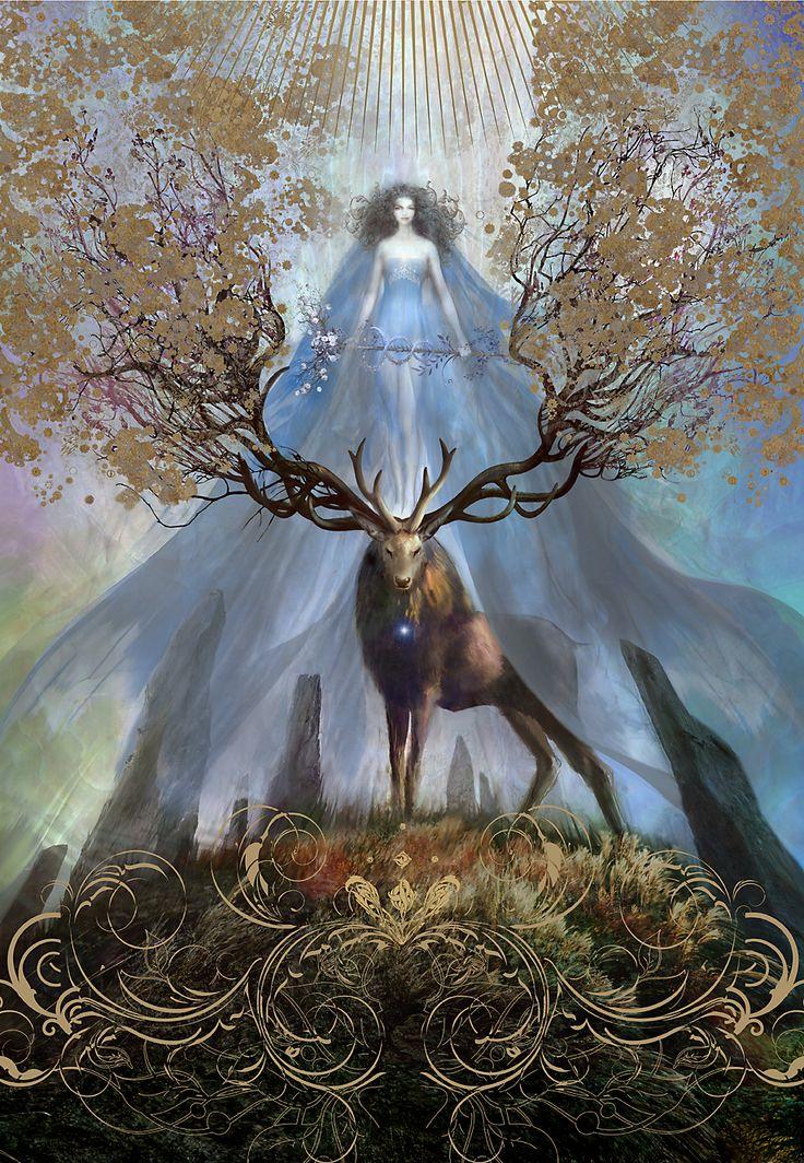 "megarah-moon:  ""La Dane Blanche"" by Greg Spalenka"