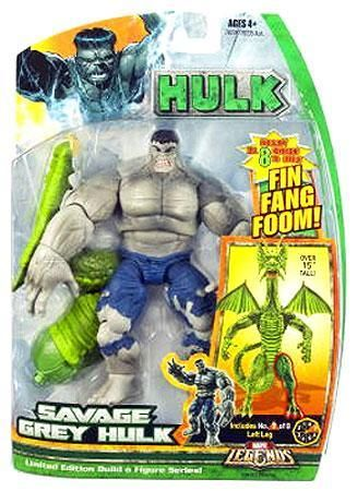 Includes a piece to build the Fing Fang Foom build-a-figure. Savage Grey Hulk Action Figure Marvel Legends Hasbro Toys