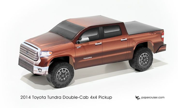 Toyota Tundra paper model | http://papercruiser.com/downloads/toyota-tundra-2014/: Papercruiser S Paper, Tundra Paper, Paper Crafts, Paper Models