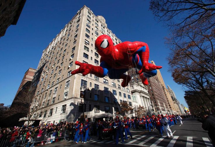 The Spiderman balloon floats down Central Park West during the 86th Macy's Thanksgiving Day Parade in New York November 22, 2012.