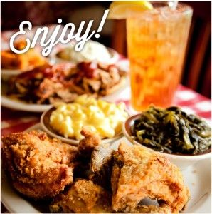 Loveless Cafe, Nashville, TN  - best Fried chicken ( next to my mama's of coarse) and collard greens ever known to man--oh, and their biscuits are to die for!!!)