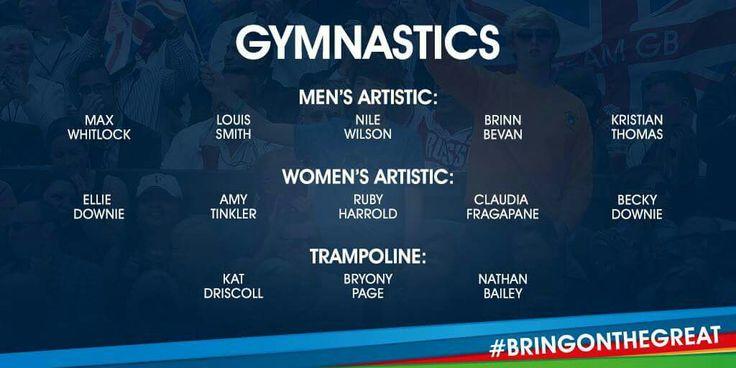 Gymnastics Team GB Rio 2016