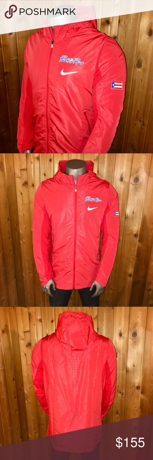 NWT! Nike Hyper Elite Puerto Rico Olympic Jacket Brand New With Tags!  -Size: U.S. Men's XL -Color: Red/Blue Interior -Official Nike Product -Nike Hyper Elite -Official Olympic Apparel of the Puerto Rican Basketball Team -Polyester and Spandex Blend -Regular Fit -Made in Indonesia  Jacket comes from a smoke and pet free home  Thanks for looking! Nike Jackets & Coats Performance Jackets